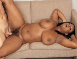 Busty black girl Aileen Ghettman Fuck the boss