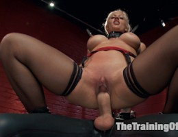 Hard core Anal MILF Slave Training, inescapable bondage and pussy training, sloppy throat fucking, reverse cowgirl anal fuck