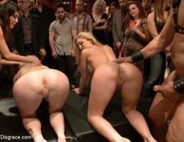 2Blonde fuck-toys. We\'re not finished playing with these presents. Extra\'s guests arrive...
