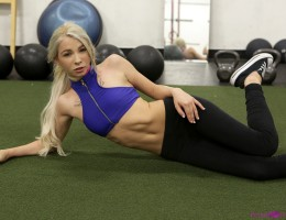 Looking tight and fit, Kenzie Reeves works out her hot body. She holds nothing back, embracing her athletic side. When T Stone joins her to help her complete her workout, Kenzie finds herself horny as hell from all the adrenaline. This fuck bunny has to g