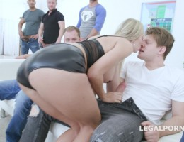 7on1 Double Anal Gangbang with Florane Russell, Balls Deep Anal, DAP, Gapes, swallow GIO1060