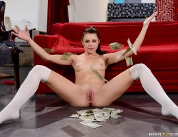 Babysitter Megan Sage loves making money. So, when Tommy Gunn returns home and pulls out a wad of cash but only gives Megan two bills from his stack, shes not satisfied. Mr. Gunns about to send her on Megan way but she isnt just hungry for his big cock