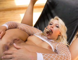 Horny girls suck and gag on tons of fun toys.