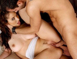 Watch Two Boys Fucking Both Holes Of A Hot & Wet Brunette!