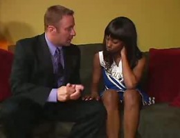 Black Teen Cheerleader seduces the principal