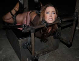 Christina Carter in steel bondage. Her toughest shoot ever.