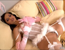 Eve Angel Plays With Her Wet Pink In A Sexy Bunny Costume