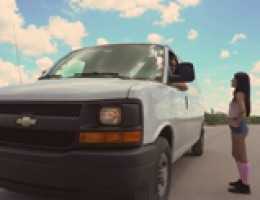 Helpless Teens Sadie Pop - Paying With Pussy Stranded little pixie Sadie Pop isout of gas and seemingly out of luck until Kyle pulls up in his white van. A little down the road when he asks her to cover gas costs she claims she doesn\'t haveanyway to pay