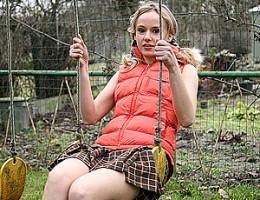 Very horny cutie loves daring public teenage masturbation