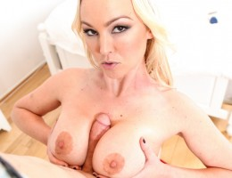 A lucky cock fucked in POV by Abbey Brooks big perfect tits