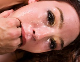 Ginger slut gets her face fucked hard