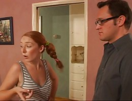 Redhead Teen Babysitter Shows Him Her Snatch