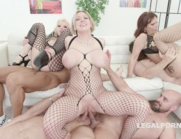 Outnumbered both ways Squirt Edition #2 With Syren De Mer, Dee Williams and Barbie Sins Balls Deep Orgy, Squirt GIO1064