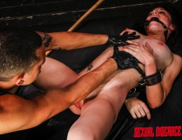 Her pale skin, nipples and clit redden quickly with the whip, crop, cane and cattle prod. She smiles and asks for more like the shameless painslut she is when she is fisted and fucked with a double dong? she is Kaisey Dean, and this depraved newcomer is e