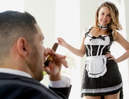 Dillion Harper is a naughty little maid eager to please boss