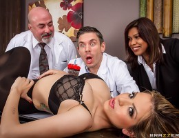 Dr. Blue has to work on his birthday, and as you might imagine, hes not exactly thrilled. When his coworkers bring him a birthady cupcake, he blows out the candle and makes one wish: for a big booty Latina who likes anal! As soon as his next client walk
