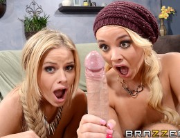 When best friends Alexis Monroe and Jessa Rhodes find out that they\'ve both been fucking the same man, Keiran Lee, they decide there\'s only one way to settle once and for all who he likes the most. They\'ve got to suck his dick, fuck him, and make him d