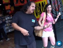 Wild little young slut fucks legend Ron Jeremys dick dry