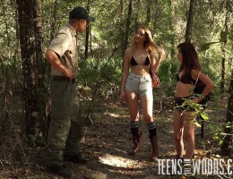 She may be a petite little thing, but Sally Squirtz has a king-sized appetite for filthy rough sex, BDSM, rope bondage and every other act of depraved extreme teen sex that pops into her dirty little mind. Poor Sally is lured to the woods by a certain som