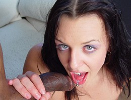 Teen punk brunette takes huge black dick