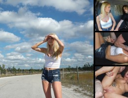 Stranded Blond Broken Sexy blond teen Victoria Stephanie has somehow wound up stranded in the backwoods. After hours of trekking in the sun she catches a break when Brick arriives in his white van. He agrees to give her lift, but only in exchange for the