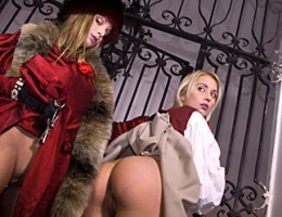 Experienced Dracula girl teaching her how to fuck this dick