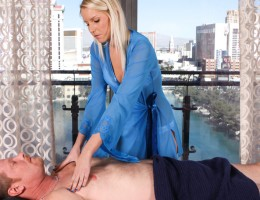 Masseuse Vanessa Turns Slut For Three Guys At Bachelor Party