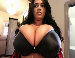 Hey there everyone! I have my absolutely massive all-natural JJ+Cup big tits in my tight