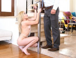 Stepson fucks his stepmom bareback for the first time.
