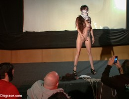 Hot body, big tits, lovely long hair, hell yes!! Willing little whore gives a filthy performance in an adult movie theater.