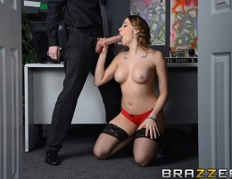 What makes ZZInc\'s employees the happiest in the world? Their fuck-friendly office has a healthy benefits package, including Copulation Rooms for all their midday sex breaks. Chanel Preston shows you in this raunchy recruitment video how the perks and je