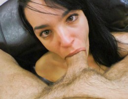 Roxy gets a face full of huge cock and a face full of cum