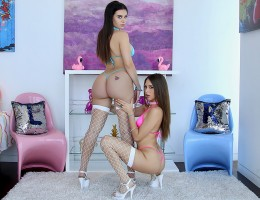 You're in for a wild ride as Lana Rhoades and Riley Reid are unleashed in the same room! This is a real hot scene. luckily Riley's mouth and squirting pussy keep things cooled off. Meanwhile, Lana's ass expertly handles some intense thrusting from a