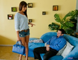 Gorgeous college babe Tiffany Brookes meets up with her sugar daddy for a hot fucking and to collect her allowance.