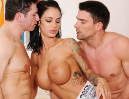 After a long day, Angelina knows that there is no better way to relax than to have a nice, big cock up her ass. When the first guy she calls takes forever to show up, however, she decides to get someone else to fill her tight, little asshole. When both