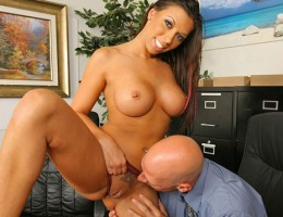 Rachel starr gets her big tits and pussy fucked in the office afterhours in these hot cum vids