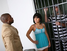Jenna Moretti bails her father out of jail by milking a monstrous black dick