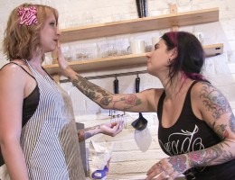 Behind the scenes with Eidyia, Joanna Angel, and John Strong