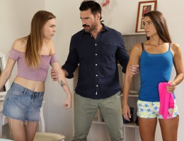 Alex Blake and her stepsister Tara Ashley are fighting over a shirt when Alex\'s stepdad, Charles Dera, comes to see what the commotion is. He separates the two girls, but Tera gets to Alex long enough to tear her clothes off. Alex doesn\'t care about her