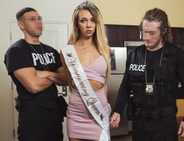 Homecoming Ho Local Homecoming Queen turned call-girl Tiffany Watson puts up substantial resistance after undercover cops bust her in a hotel escort sting. Fortunately for the fit leggy blonde, Officer Brick is willing to let her go if she can satisfy him