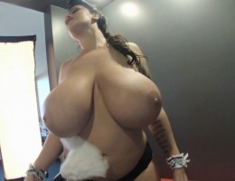 Leanne Crow huge boobs in a Naughty Maid outfit. Watch her clean your house and see how her massive boobs bust out of her maid dress