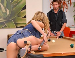 Beautiful red head nicole ray gets fingered and nailed hard on the pool table in these hot big bush fucking vids