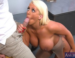 Alura Jenson decides to fuck her student and seduces him with her massive tits and big booty.