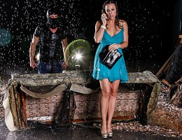 Chanel Preston reveals her horny house wife fantasy. She is being followed while driving and her car runs out of gas. She contacts her husband to tell him she\'s okay as a stranger approaches her and fucks her in the rain. Watch as her fantasy cums to lif