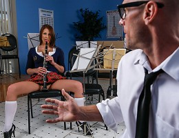 Madison wants to master the clarinet to impress her band teacher, Johnny. They say practice makes perfect, but the only thing Madison ever wants to practice is fucking, and the only thing she\'s ever perfected is the art of the blowjob.