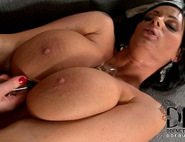 Busty Babes Nanny & Sheila Grant Take On A Glass Double-Dong