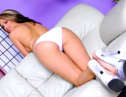 Jenny Hendrixs Bubble Butt Dressed In Her Cute White Undies