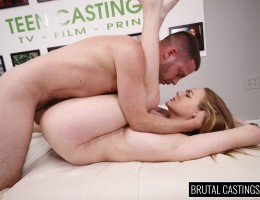 Leigh Rose, a cute bubbly girl next door, is ready to take over the entertainment industry with Teen Castings! She\'ll do anything to get what she wants. She\'ll even endure BDSM, domination, rope bondage, deepthroat bj, fingering, squirting, spanking, sl