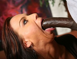 A huge black cock glides its way into a white girl\'s colon