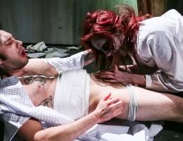 Tommy Pistol gets a blowjob from sexy zombie Phoenix Askani.